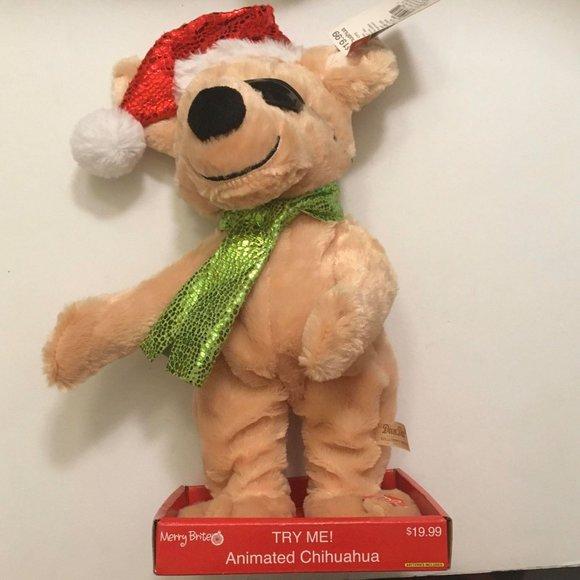 NWT- Animated Christmas Dancing Chihuahua